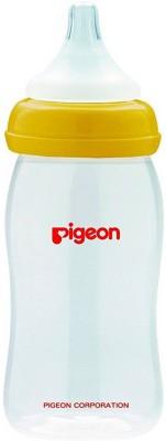 Pigeon Wide Neck Nursing Bottle 240 Ml With Plus Type Nipple - 240 ml(Yellow)