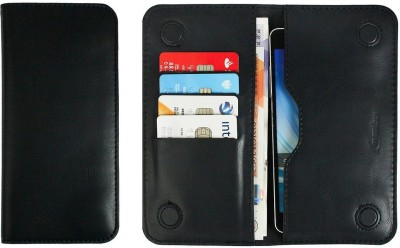 Emartbuy Wallet Case Cover for Panasonic Eluga Icon 2(Black, Dual Protection, Artificial Leather)