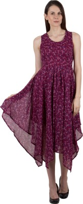 G & M COLLECTIONS Women Layered Maroon Dress