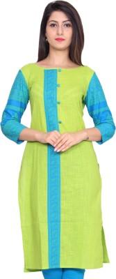 GMI Casual Printed Women Kurti(Green)