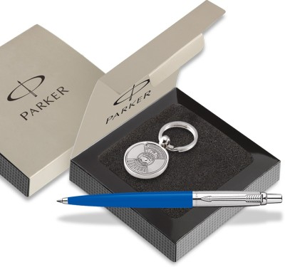 Parker Jotter Std CT Ball pen Blue With Perpectual Calendar Key Chain Pen Gift Set