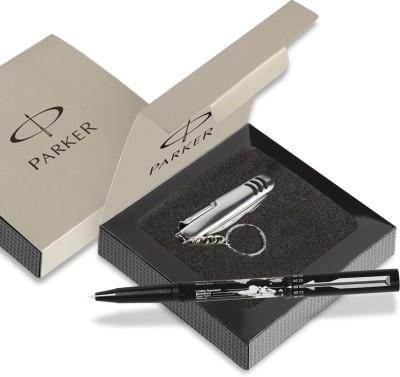 Parker Beta Millenium CT Ball pen Black with S.Knife Pen Gift Set