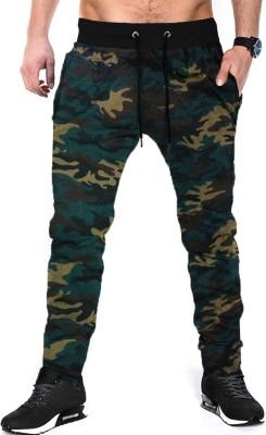 Tripr Camouflage Men Multicolor Track Pants