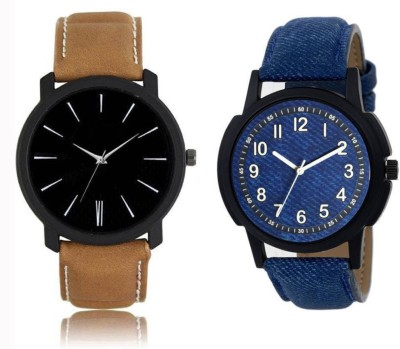 Freny Exim New Exclusive Collection black blue dial Leather Strap Belt Mens Watches Best Offer Combo Watch trendy Analog Watch   For Boys Freny Exim W