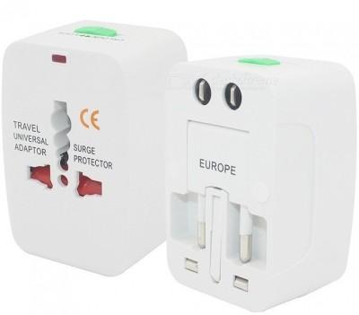electrobee All in one Universal International travel Adapter Worldwide Adaptor White electrobee Laptop Accessories
