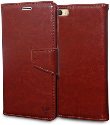 Demigod Flip Cover for Samsung Galaxy Note 8 Brown, Shock Proof