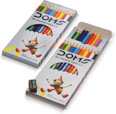DOMS 12 Hexagonal Shaped Color Pencils Set of 1, Multicolor