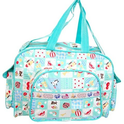 Guru Kripa Baby Products ™ Presents New Born Baby Multypurpose Mother Bag With Holder Diapper Changing Multi Comprtment For Baby Care And Maternity Handbag Messenger Bag Diaper Nappy Mama Shoulder Bag Diaper Bag For Baby Multipurpose Waterproof Mother Bag Diaper Bag (Green) New Born Baby Mother Bag/