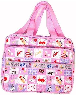 Guru Kripa Baby Products New Born Baby Multipurpose Mother Bag With Holder Diapper Changing Multi Comprtment For Baby Care And Maternity Handbag Messenger Bag Diaper Nappy Mama Shoulder Bag Diaper Bag For Baby Multipurpose Waterproof Mother Bag Diaper Bag (Pink) New Born Baby Mother Bag/Diaper Bag(P