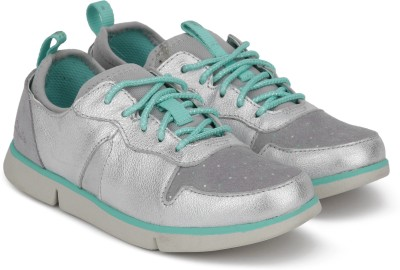 Clarks Girls Lace Sneakers(Silver) at flipkart