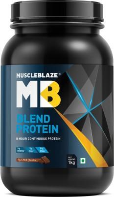 MuscleBlaze Blend Protein (1Kg, Chocolate)