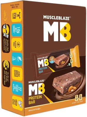 MuscleBlaze Protein Bar with 22g Protein, Pack of 12  72g each  Protein Bars
