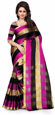 Villagius Embroidered Bollywood Silk Saree(Pink)