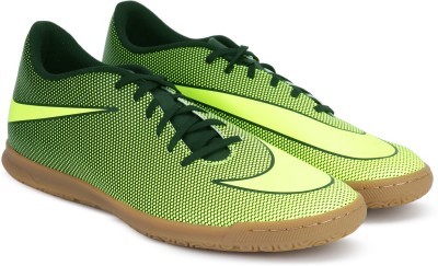 Nike BRAVATAX II IC Football Shoes For Men(Green, Black) 1