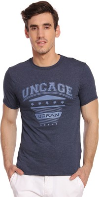 Young Trendz Graphic Print Men Round or Crew Dark Blue T-Shirt
