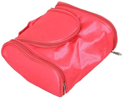 Kuber Industries Synthetic Travel Toiletry Kit Pink