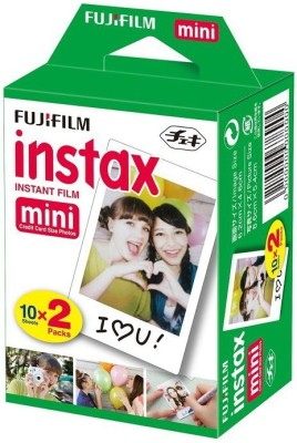 Fujifilm Instax Mini 20 Sheet Pack Film Roll(Yes 800 ISO Pack of 20)