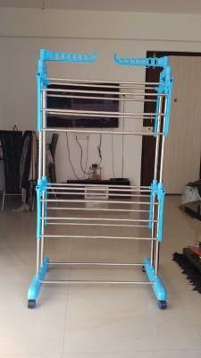 SUNDEX Steel Floor Cloth Dryer Stand 2 LEYAR - BEST QUALITY STEEL(2 Tier)