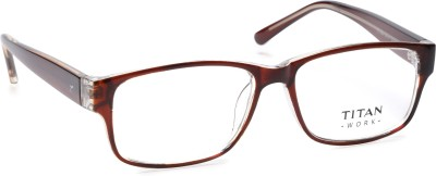 Titan Full Rim Rectangle Frame(121 mm)
