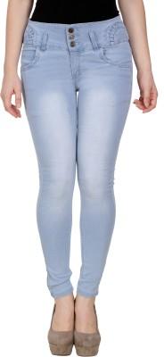 Manash Fashion Slim Women Grey, Light Blue Jeans(Pack of 2)