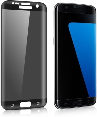 Marshland Tempered Glass Guard for Samsung Galaxy S7 Edge 2.5d curved (Black)