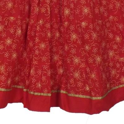 Adiboo Printed Girls A line Red Skirt Adiboo Kids' Skirts