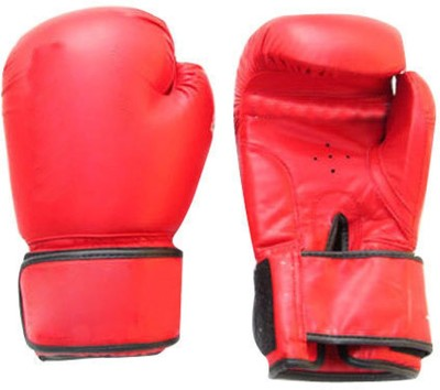 Lots International Fight Punch Hand Gloves PU Leather (1 Pair) Boxing Gloves(Red)