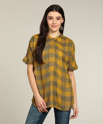 Vero Moda Casual Half Sleeve Checkered Women