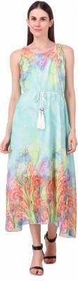 La Zoya Women A-line Light Blue Dress