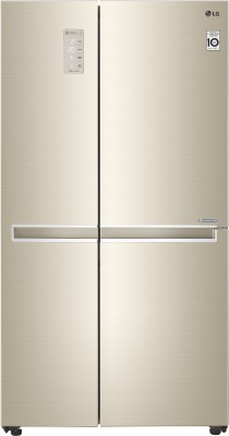 Image of LG 687 L Frost Free Side by Side Refrigerator which is best refrigerator under 70000