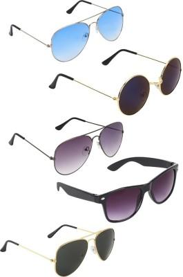 c0e20488a 67% OFF on Zyaden Aviator, Aviator, Aviator, Wayfarer, Round Sunglasses(