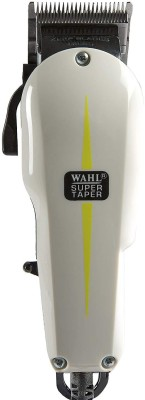 Wahl super taper 08466-424  Runtime: 120 Trimmer for Men(White)