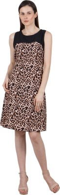 G   M Collections Women Fit and Flare Multicolor Dress