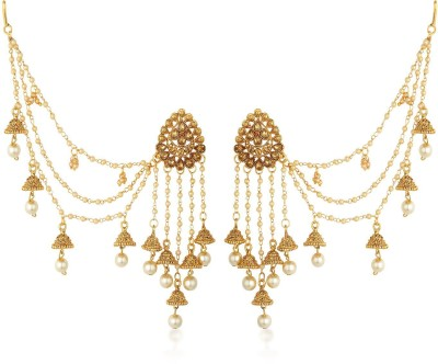 Sukkhi Sukkhi Bahubali Inspired Earrings With Beads Chain Jhumki Earring For Women Pearl Alloy Jhumki Earring at flipkart