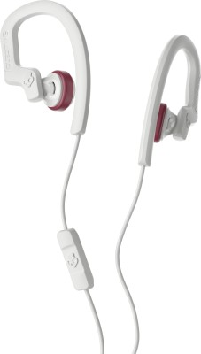 Skullcandy s4chy-l678 Wired Headset with Mic(White, In the Ear)