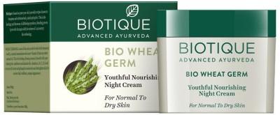 BIOTIQUE BIO Wheatgerm Youthful Nourishing Night Cream for Normal to Dry Skin, 50g(50 g)