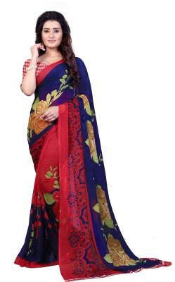 Anand Sarees Printed Fashion Georgette Saree(Multicolor)