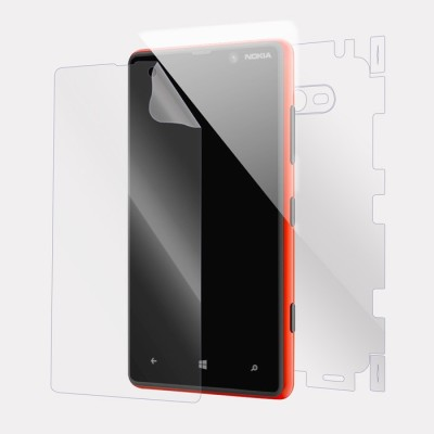 Snooky Front and Back Tempered Glass for Nokia Lumia 820(Pack of 1)