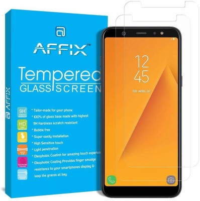 Affix Tempered Glass Guard for Samsung A6 Plus [6.00 Inch] - Pack of 2(Pack of 2)