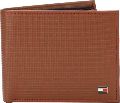 TOMMY HILFIGER Men Tan Genuine Leather Wallet 7 Card Slots TOMMY HILFIGER Wallets