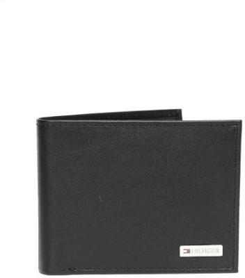 TOMMY HILFIGER Men Black Genuine Leather Wallet 11 Card Slots TOMMY HILFIGER Wallets