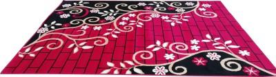 AS HANDLOOM Red, Black Acrylic Carpet(180  X 235) at flipkart