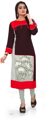 Padmashri international Festive & Party Printed Women Kurti(Purple)