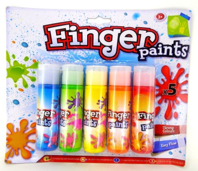 Oytra Finger Paint for Kids 5 Colors Water based(Set of 5, Multicolor)