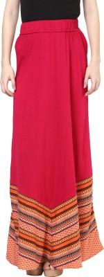 Fusion Beats Printed Women Straight Multicolor Skirt
