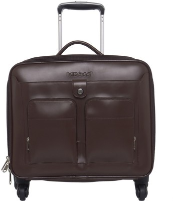 Mboss Laptop Strolley Small Travel Bag   Medium Brown Mboss Small Travel Bags