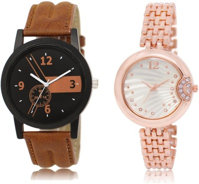 KNACK Latest combo Casual Brown,Trending Army watch,All Fest Mahadev and Beardo and Love-Print watches For Boys and Girls Watch  - For Men & Women