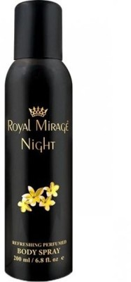 Royal Mirage Night Parfume Body Spray For Men & Women -200ml Body Spray  -  For Men & Women(200 ml) Flipkart