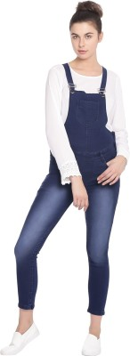 Broadstar Women Blue Dungaree at flipkart