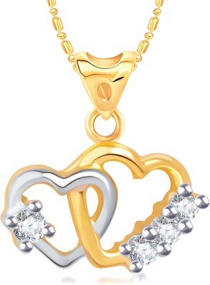 VK Jewels Shinning Diva Heart Gold-plated Cubic Zirconia
